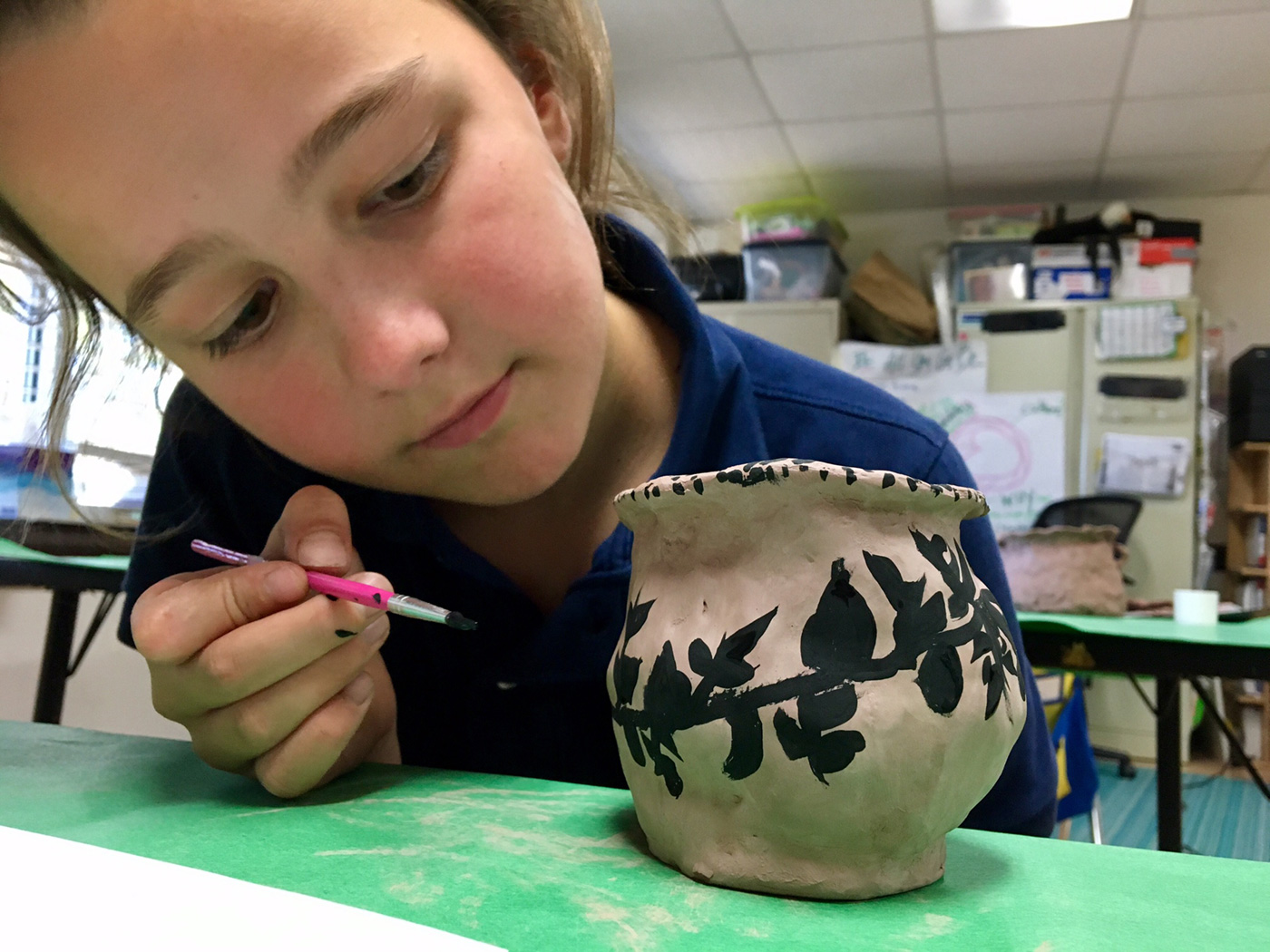 IS Student Paints Greek Vase
