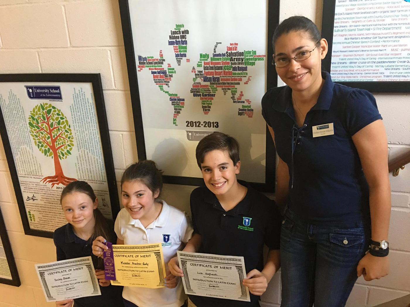 IS Student Latin Test Award Winners